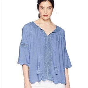 New Ariat Marla Top Blouse, Bella Blue, Large